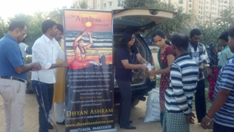 makar sankranti langar havan food distribution camp