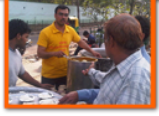 daily langars food distribution camps